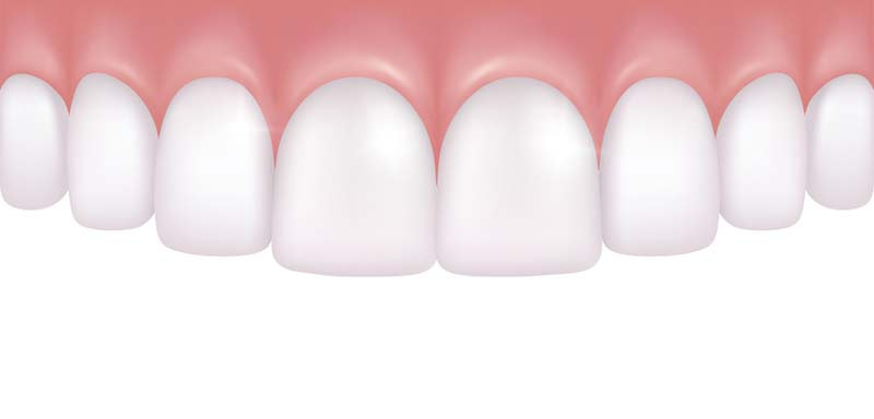 A rendering of healthy gums